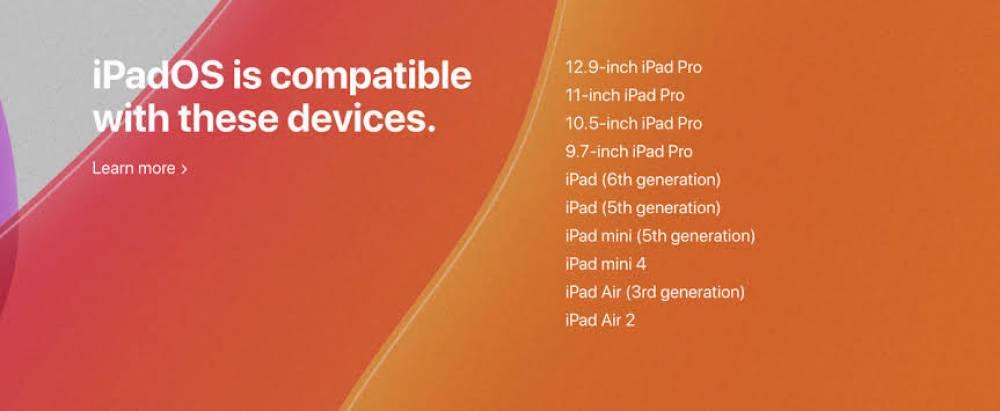 iPadOS hangi cihazlara geliyor?